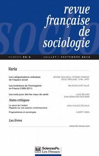 Revue française de sociologie 2014/3