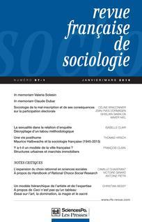 Revue française de sociologie 2016/1