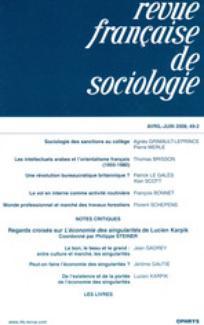 Revue française de sociologie 2008/2
