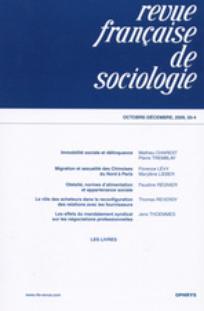 Revue française de sociologie 2009/4