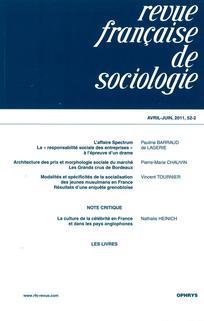 Revue française de sociologie 2011/2