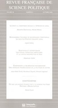 Revue française de science politique 2008/5