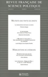 Revue française de science politique 2009/1