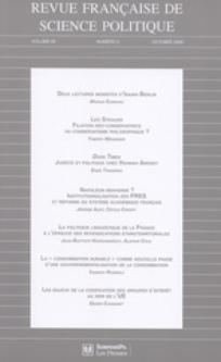 Revue française de science politique 2009/5
