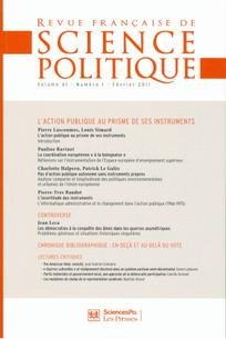 Revue française de science politique 2011/1