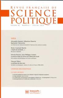 Revue française de science politique 2012/1