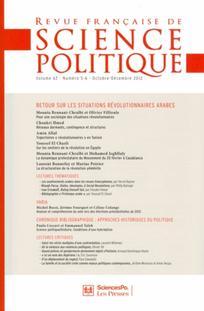 Revue française de science politique 2012/5