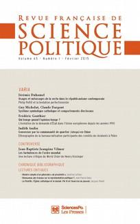 Revue française de science politique 2015/1
