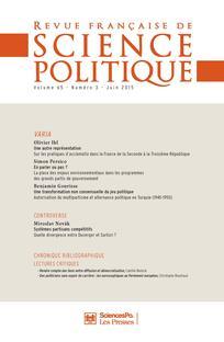 Revue française de science politique 2015/3
