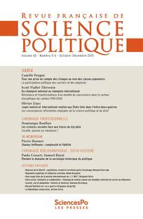 Revue française de science politique 2015/5