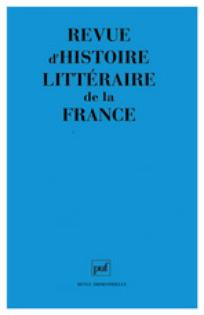 Revue d'histoire littéraire de la France 2001/5