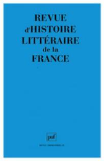 Revue d'histoire littéraire de la France 2003/2
