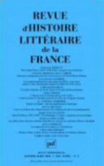 Revue d'histoire littéraire de la France 2004/1