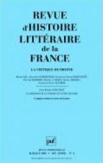 Revue d'histoire littéraire de la France 2005/3
