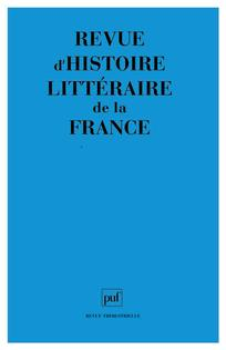 Revue d'histoire littéraire de la France 2010/3
