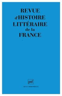 Revue d'histoire littéraire de la France | Binnendyk, Christophe. Éditeur scientifique