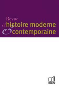 Revue d'histoire moderne & contemporaine 2000/4