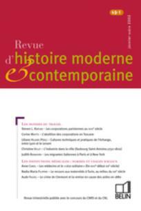 Revue d'histoire moderne et contemporaine 2002/1
