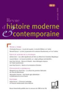 Revue d'histoire moderne et contemporaine 2003/2
