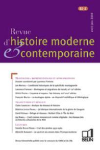 Revue d'histoire moderne et contemporaine 2005/2
