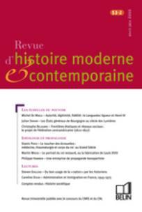 Revue d'histoire moderne et contemporaine 2006/2
