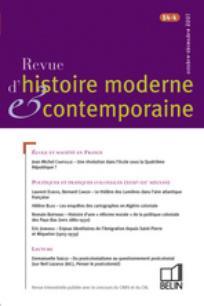 Revue d'histoire moderne et contemporaine 2007/4