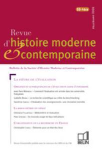Revue d'histoire moderne et contemporaine 2008/5