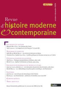 Revue d'histoire moderne et contemporaine 2010/4