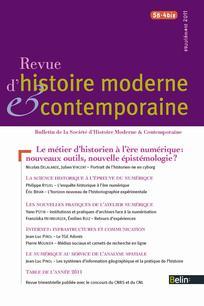 Revue d'histoire moderne et contemporaine 2011/5