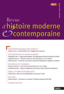 Revue d'histoire moderne et contemporaine 2013/1