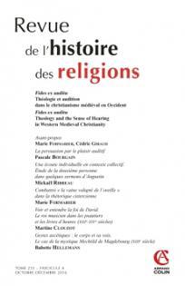 Revue de l'histoire des religions 2016/4