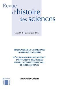 Revue d'histoire des sciences