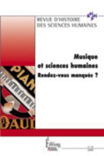 Revue d'Histoire des Sciences Humaines 2006/1