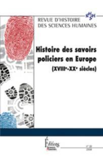 Revue d'Histoire des Sciences Humaines 2008/2
