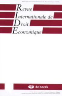 Revue internationale de droit économique 2001/1