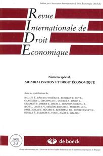 Revue internationale de droit économique 2002/2