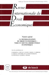 Revue internationale de droit économique 2003/3