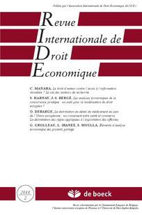 Revue internationale de droit économique 2011/2