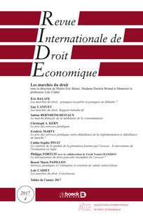 Revue internationale de droit économique 2017/4