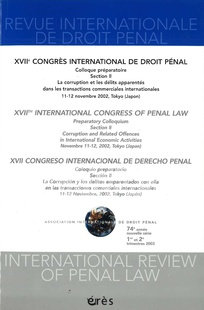 Revue internationale de droit pénal 2003/1