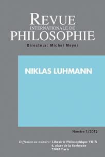 Revue internationale de philosophie 2012/1
