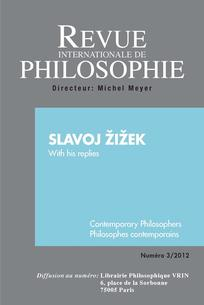 Revue internationale de philosophie 2012/3