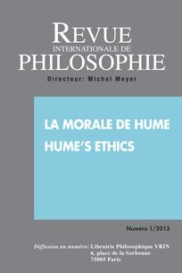Revue internationale de philosophie 2013/1