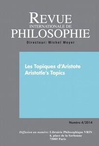 Revue internationale de philosophie 2014/4