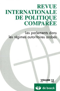 Revue internationale de politique comparée 2008/2