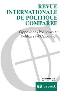 Revue internationale de politique comparée 2011/2