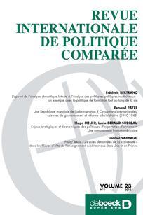 Revue internationale de politique comparée 2016/1