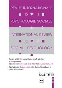 Revue internationale de psychologie sociale 2008/1