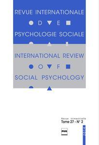 Revue internationale de psychologie sociale 2014/3