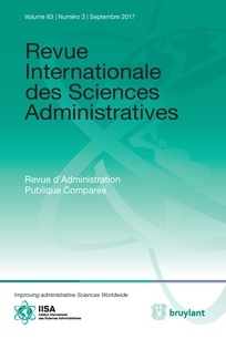 Revue Internationale des sciences administratives Vol.83, N°3 (01/09/2017)
